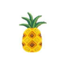 パイナップル 刺繍ブローチ (イエロー)