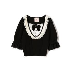 Dolly frill Sweet Knit (クロ)