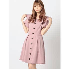 ふんわりバルーンワンピース (ピンク)