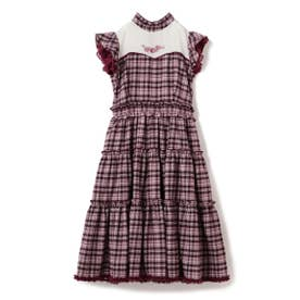 Honey Checkティアードワンピース / mille fille closet (ピンク系)