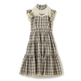Honey Checkティアードワンピース / mille fille closet (茶系)