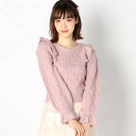 【Ray12月号掲載】ヴィンテージライクフリルニット (ピンク)
