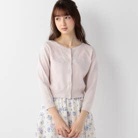 Fleur Embroideryカーディガン (ピンク)