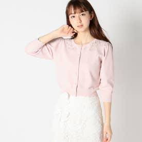 フルール刺繍フェアリーカーディガン (ピンク)