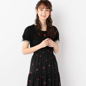 SweetCherryパフTシャツ (クロ)