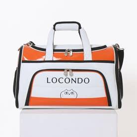 ロコンド ゴルフ ゴルフボストンバッグ(ホワイト×オレンジ)