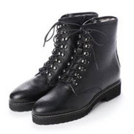 ルカ グロッシ ムートンワークブーツ (ブラック)