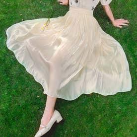 レディース スカートフレアスカート ロングスカート スカート フレア マキシスカート マキシ 韓国 韓国ファッション 人気  夏 (ホワイト)