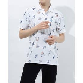 メンズ ゴルフ 半袖シャツ ハンソデシャツ MGMRJA04X (ホワイト)