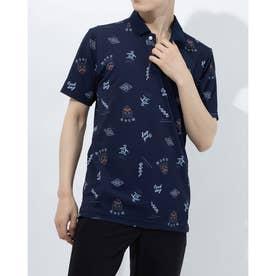 メンズ ゴルフ 半袖シャツ ハンソデシャツ MGMRJA04X (ネイビー)