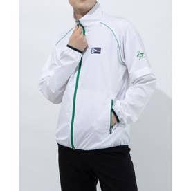メンズ ゴルフ 長袖ウインドブレーカー ブルゾン/コート/WB MGMRJK01X (ホワイト)