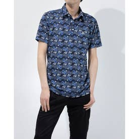 メンズ ゴルフ 半袖シャツ ハンソデシャツ MGMRJA06X (ネイビー)