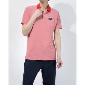 メンズ ゴルフ 半袖シャツ ハンソデシャツ MGMRJA08X (レッド)