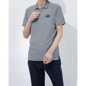 メンズ ゴルフ 半袖シャツ ハンソデシャツ MGMRJA08X (ネイビー)