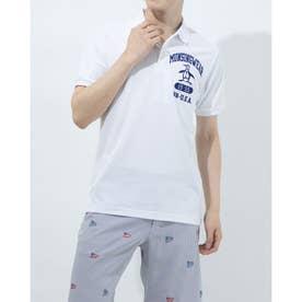 メンズ ゴルフ 半袖シャツ ハンソデシャツ MGMRJA04 (ホワイト)
