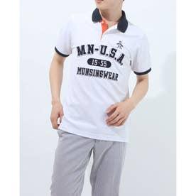 メンズ ゴルフ 半袖シャツ ハンソデシャツ MGMRJA07X (ホワイト)