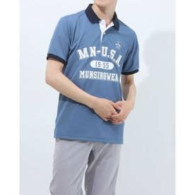 メンズ ゴルフ 半袖シャツ ハンソデシャツ MGMRJA07X (ネイビー)