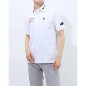 メンズ ゴルフ 半袖シャツ ハンソデシャツ MGMRJA02X (ホワイト)