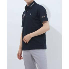 メンズ ゴルフ 半袖シャツ ハンソデシャツ MGMRJA02X (ネイビー)