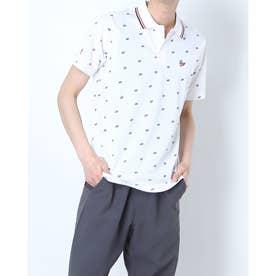 メンズ ゴルフ 半袖シャツ ハンソデシャツ MGMRJA19 (ホワイト)