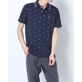 メンズ ゴルフ 半袖シャツ ハンソデシャツ MGMRJA19 (ネイビー)
