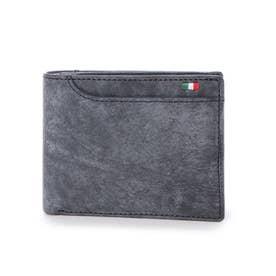 21ポケット二つ折り財布 (ネイビー)