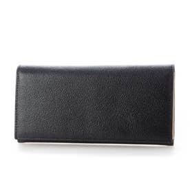 MILAGRO 英国C. F. Stead社製レザー・かぶせ長財布 (ブラック)