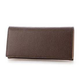 MILAGRO 英国C. F. Stead社製レザー・かぶせ長財布 (ダークブラウン)