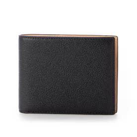 MILAGRO 英国C. F. Stead社製レザー・二つ折り財布(小銭入れ付き) (ブラック)