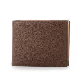 MILAGRO 英国C. F. Stead社製レザー・二つ折り財布(小銭入れ付き) (ダークブラウン)