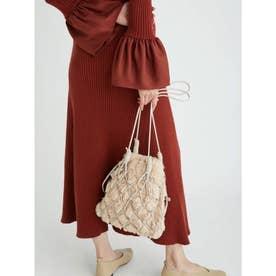 ファー巾着ネットバッグ (IVR)