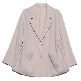 ポケットデザインイージースーツジャケット (ベージュ)