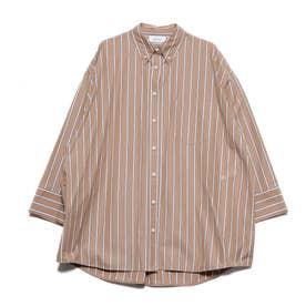 ビッグシルエットシャツ (キャメル)
