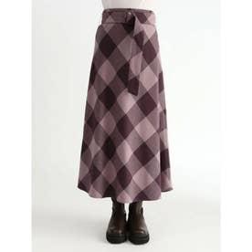 ブロックチェックバイアスナロースカート (PPL)