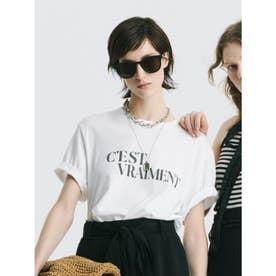 グラフィックロゴプリントTシャツ (WHT)