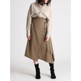 ウエストリボンラップデザインスカート (MOC)