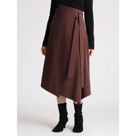 ウエストリボンラップデザインスカート (BRD)