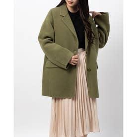 ライナー付きジャケットコート (オリーブ)
