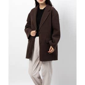 ライナー付きジャケットコート (ブラウン)