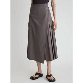 スコッチ釦タックディテール巻きスカート (MOC)