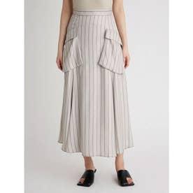 ポケットデザインフレアスカート (STRIPE)