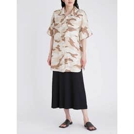 ボックスシルエット半袖シャツジャケット (MIX)