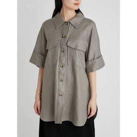 ボックスシルエット半袖シャツジャケット (MOC)