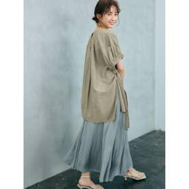 マチフレアステッチデザインナロースカート (BLU)