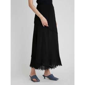 斜め切り替えナロースカート (BLK)