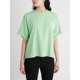 短丈ワイドグラフィックTシャツ (GRN)