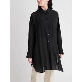 ロングリネンシャツ (BLK)