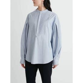 スタンドカラーワイドドレスシャツ (STRIPE)