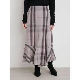 アシンメトリーマーメイドスカート (CHECK)