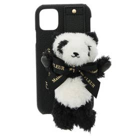 パンダさんアイフォン11ケース (ブラック)
